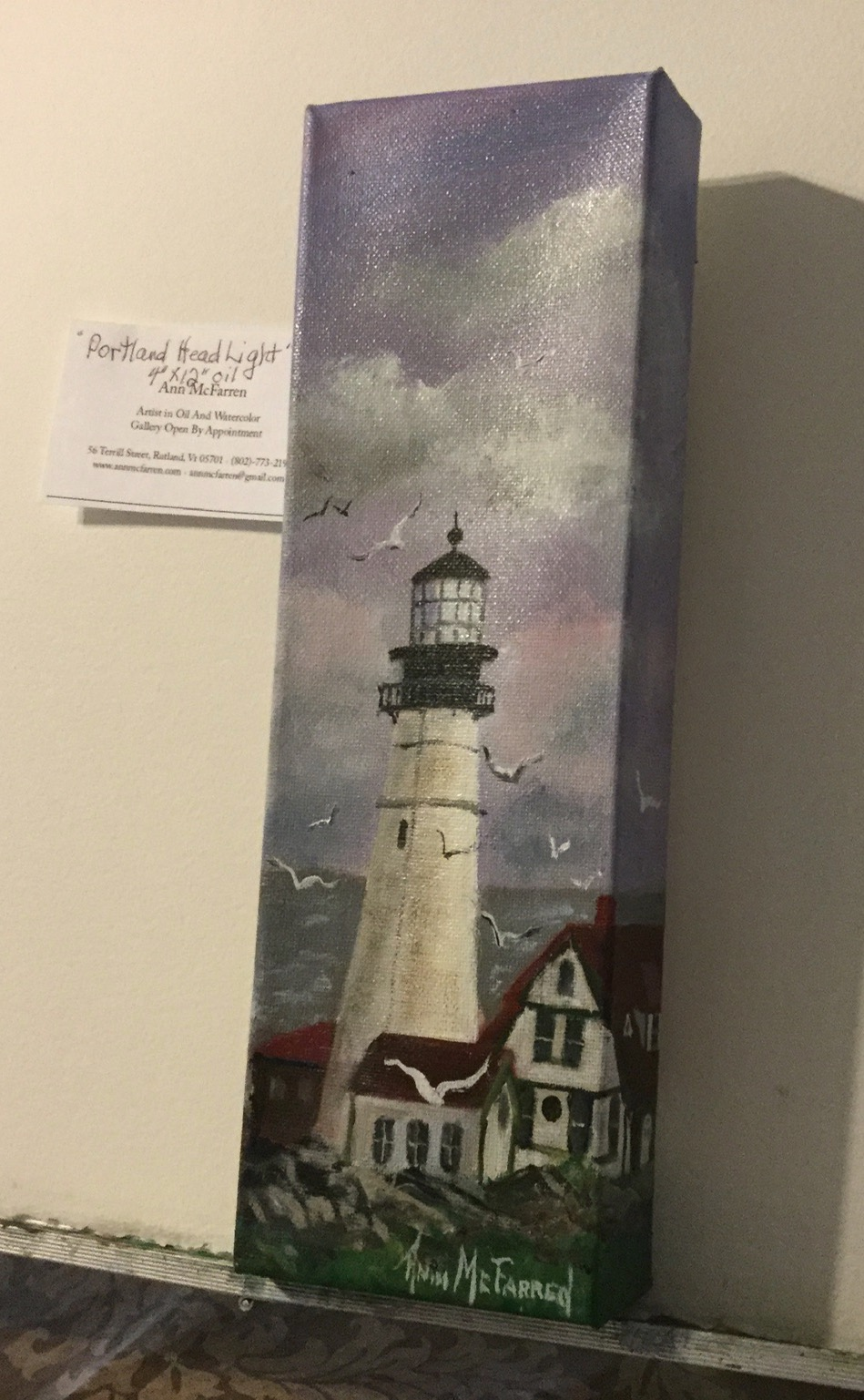 "$45 - Portland Headlight - 4""x12"""