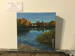 "$50 - Lake Hortonia in October - 8""x8"""