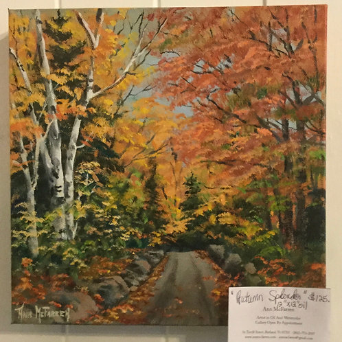 "Autumn Splendor - (12""x12"") - Original Oil Painting"
