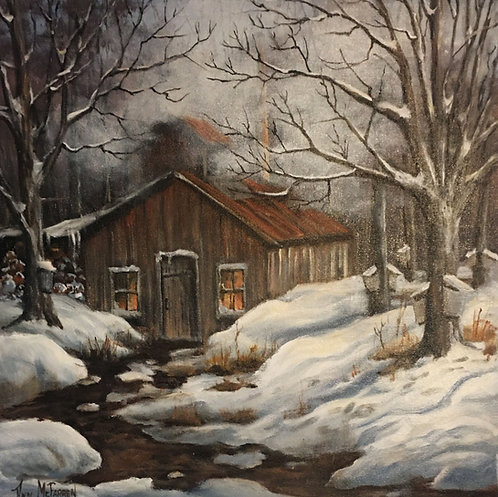 "Maple Syrup  - (20""x20"") - Original Oil Painting"