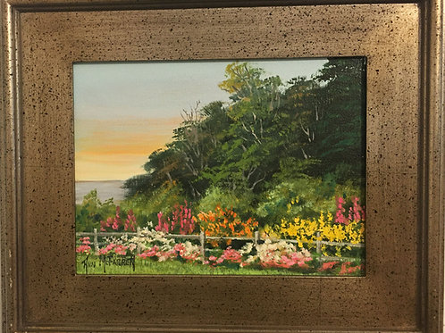 """A Breath of Spring - (9""""x12"""") - Framed Original Oil Painting"""