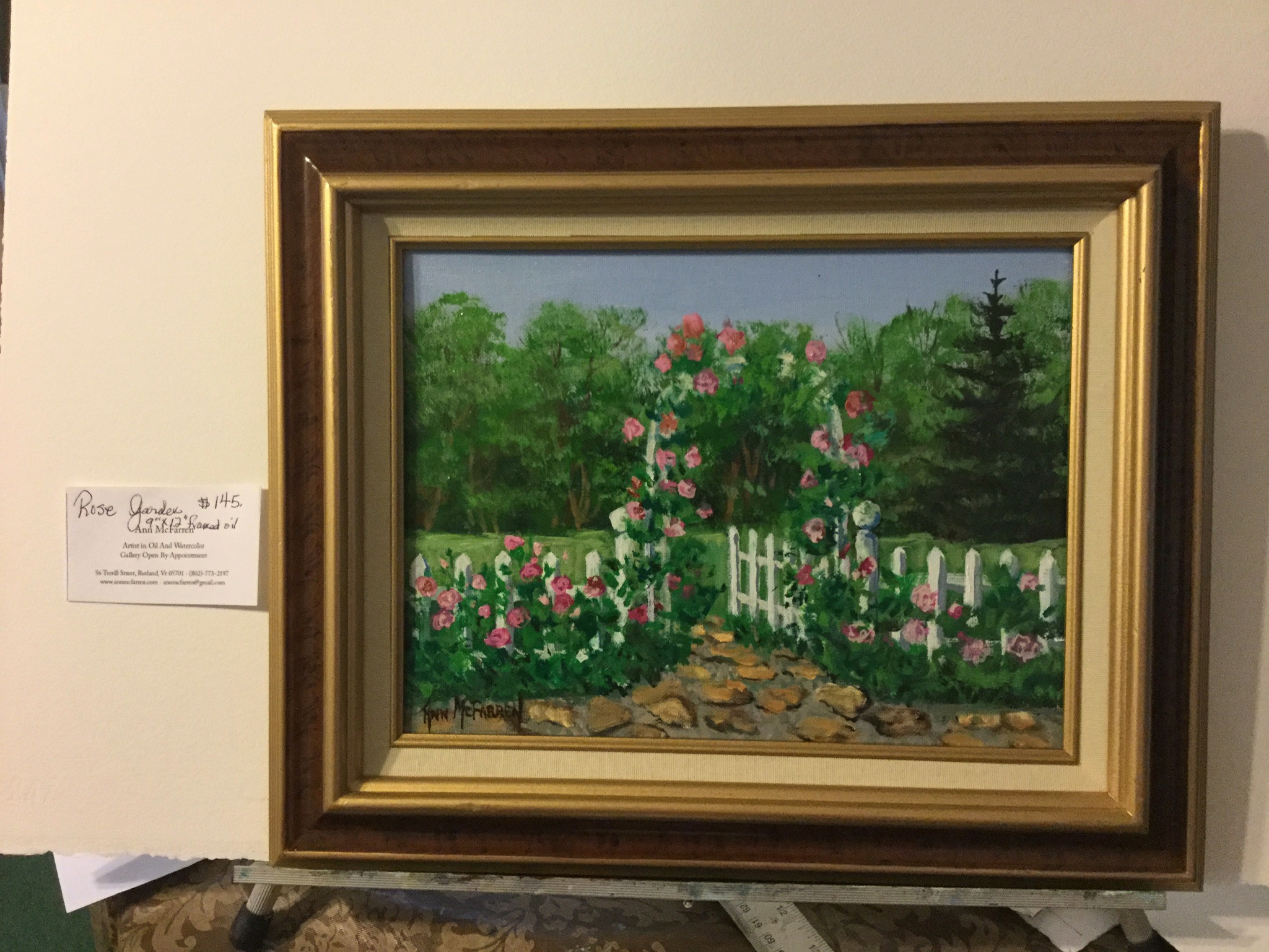 """$145 - The Rose Garden - 9""""x12"""""""