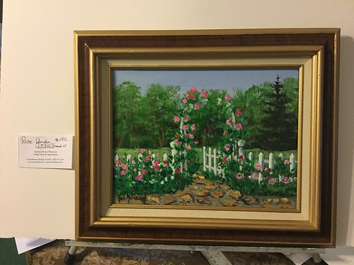 "The Rose Garden - (9""x12"") - Framed Original Oil Painting"
