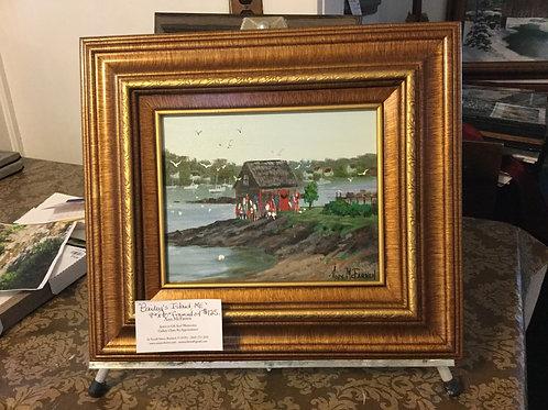"Bailey's Island, ME - (8""x10"") - Framed Original Oil Painti"