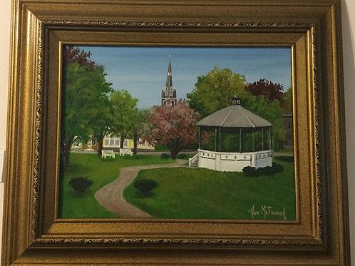 "Rutland City Park - (12""x16"") - Framed Original Oil Painting"