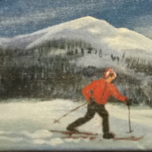 "Cross Country - (12""x4"") - Original Oil Painting"