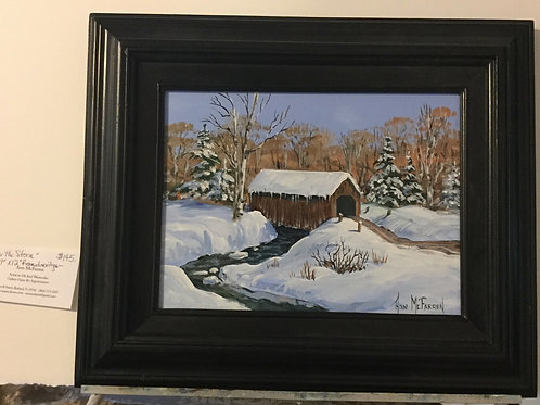 """After the Storm - (9""""x12"""") - Framed Original Oil Painting"""