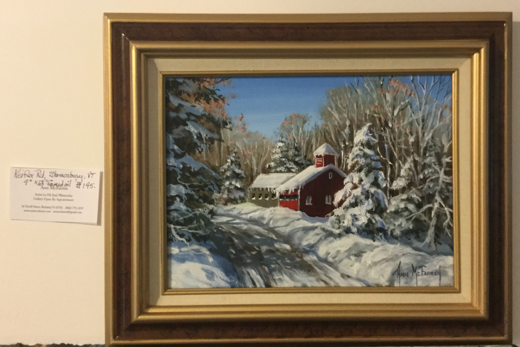 "$145 - Keifer Rd, Shrewsbury, VT - 9""x12"""