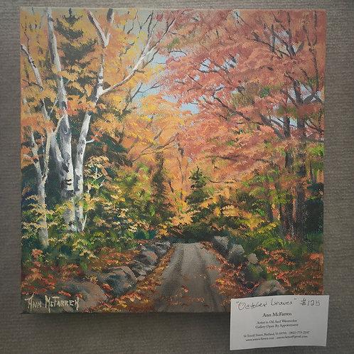 "October Leaves - (12""x12"") - Original Oil Painting"
