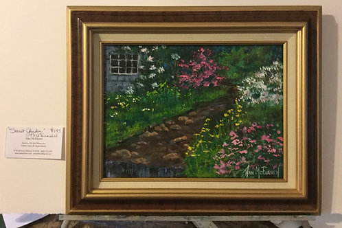 "Secret Garden - (9""x12"") - Framed Original Oil Painting"
