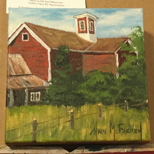 """On A Summer Day - (6""""x6"""") - Original Oil Painting"""
