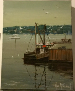 "$175 - York Harbor Reflections - 11""x14"""