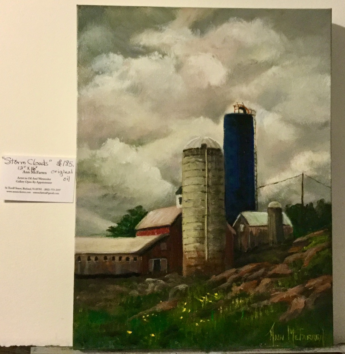 "$185 - Storm Clouds - 12""x16"""