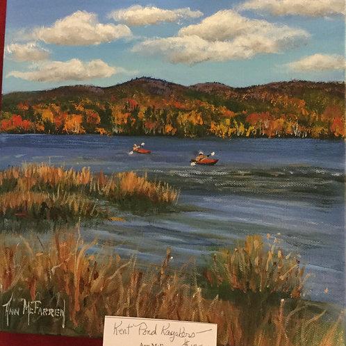 "Kent Pond Kayakers - (12""x12"") - Original Oil Painting"