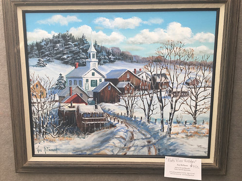 "Waits River Nostalgia - (16""x20"") - Framed Original Oil Painting"
