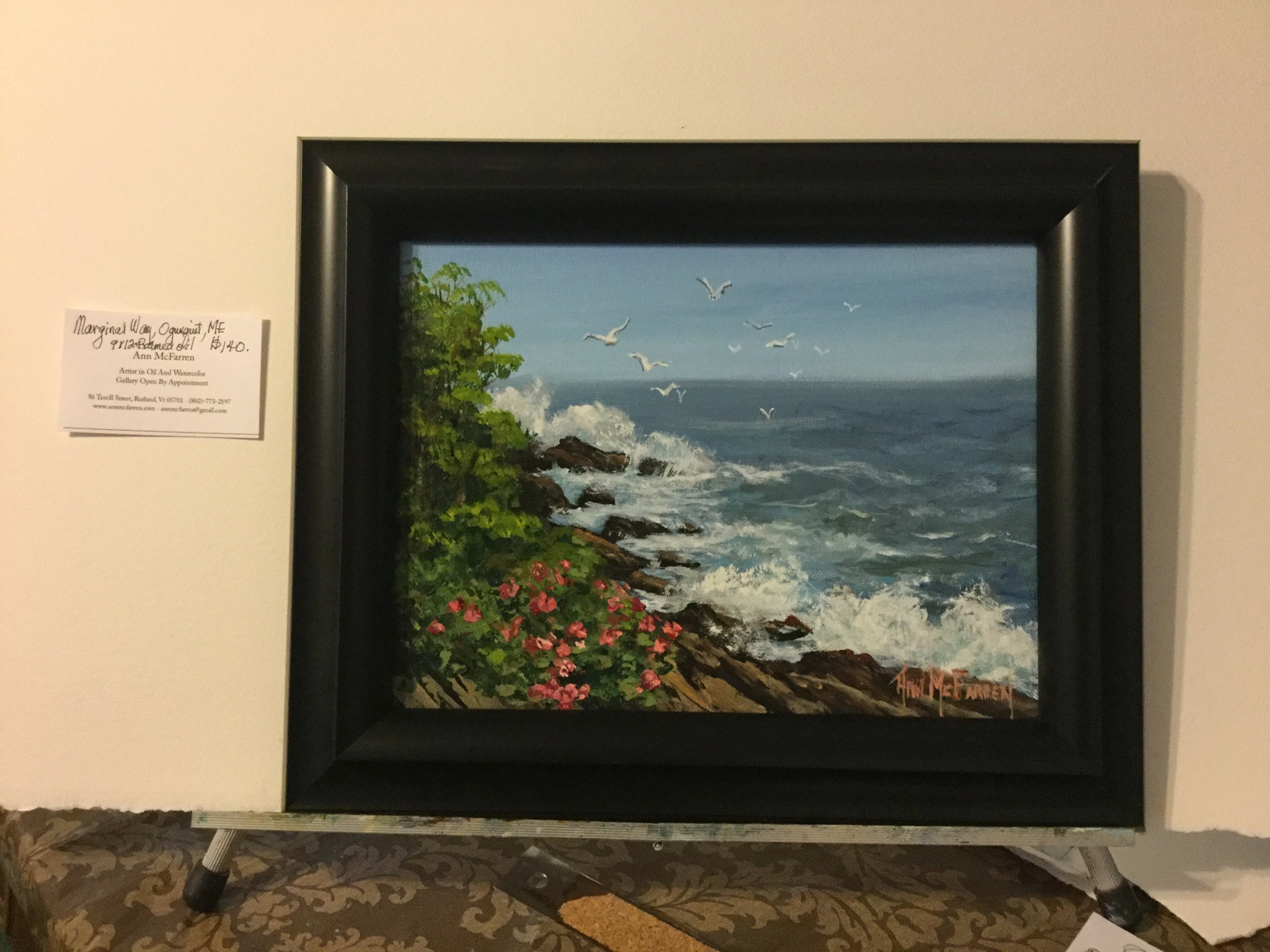 "$140 - Marginal Way, Ogunquit, ME - 9""x12"""