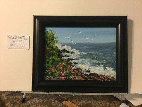 "Marginal Way, Ogunquit, ME - (9""x12"") - Framed Original Oil Painting"