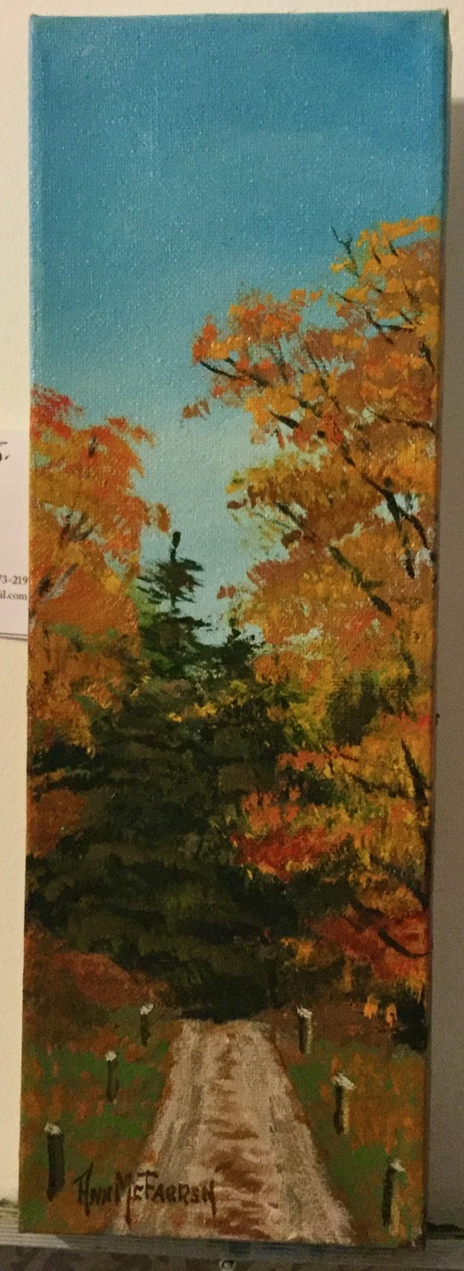"$45 - Autumn Road - 4""x12"""