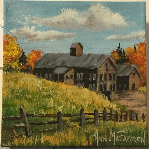 "Cornwell Barns - (6""x6"") - Original Oil Painting"