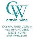 NO BG Official Cravin Wine Logo - teal w