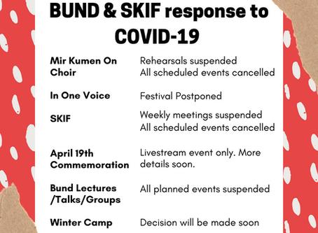 Bund & SKIF response to COVID-19