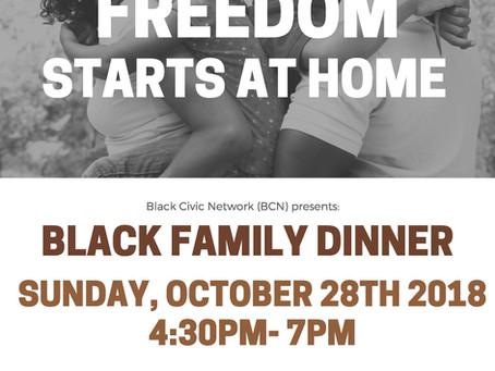 Black Civic Network: Black Family Dinner Flyer