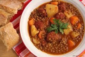 Receta de Lentejas con Chorizo - Lentil and Chorizo Stew Recipe