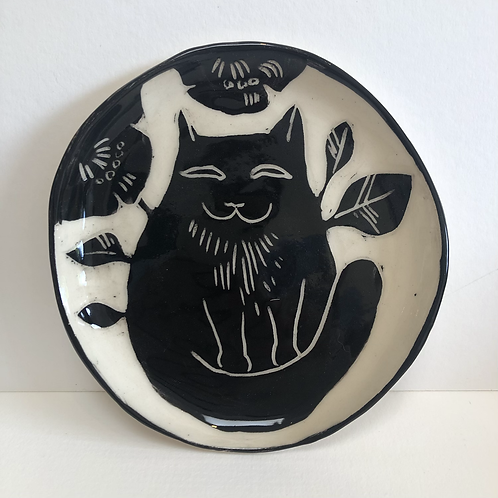 Little Black Cat Plate