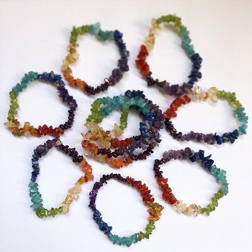 1 Rainbow Crystal chip Bracelet