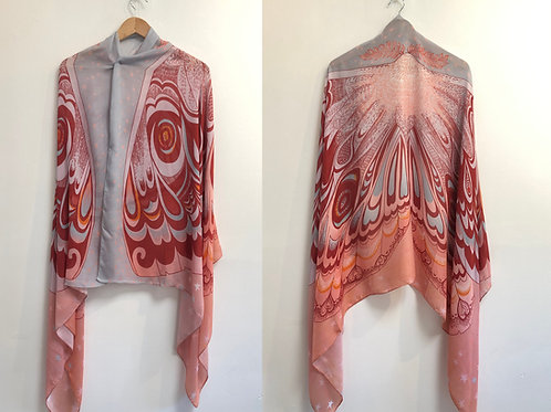 Autumn Glow Butterfly Moth Shawl - Modal Cashmere