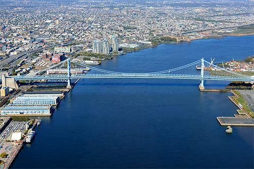 Benjamin Franklin Bridge Aerial - 515L