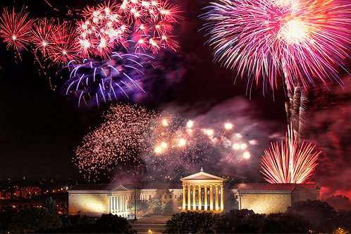 Fireworks at the Art Museum - 180XL