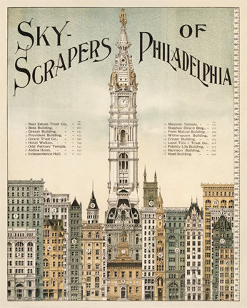 "Skyscrapers of Philadelphia - 713HS (11"" x 14"")"