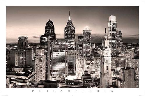 Philadelphia Skyline at Sunset - 167LV