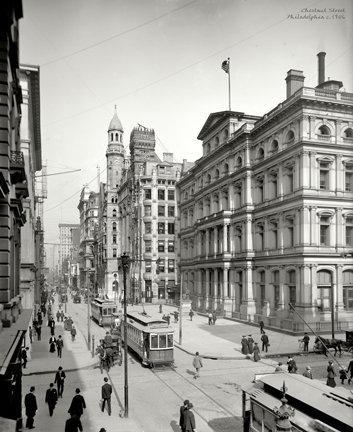 "Chestnut Street, c. 1906 - 704H (18"" x 22"")"