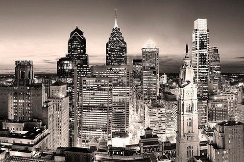 Philadelphia Skyline at Sunset - 167XLV