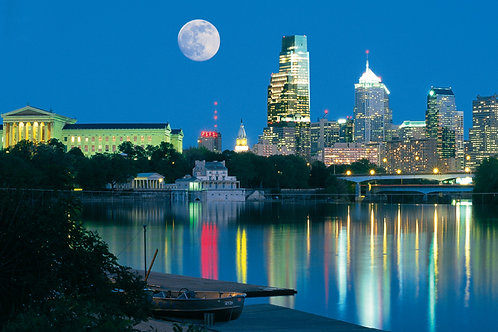 Moon Over Philadelphia - 136XL