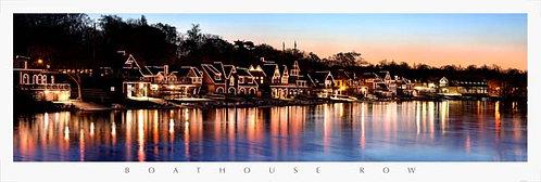 Boathouse Row at Sunrise - 162PM