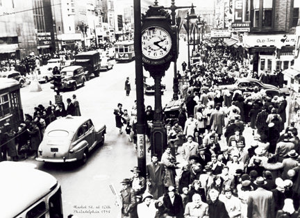 "Market St. at 12th, c. 1948 - 708H (16"" x 22"")"
