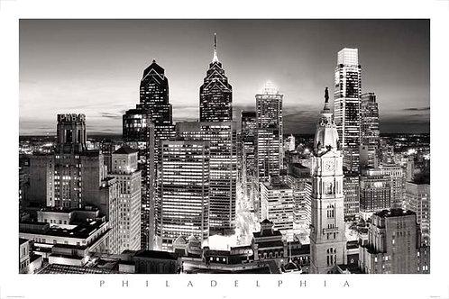 Philadelphia Skyline at Sunset - 167LBW