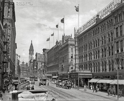 "Market St. at 8th, c. 1905 - 700H (18"" x 22"")"