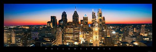 Philadelphia Skyline at Sunset- 322PM