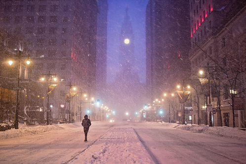 Broad Street in the Snow - 209L