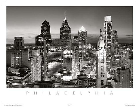 Philadelphia Skyline at Sunset - 167SBW