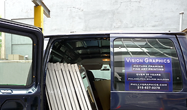 Our Vision Graphics delivery van