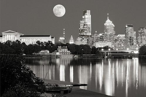 Moon Over Philadelphia - 136XLBW