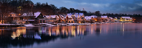 Boathouse Row in the Wintertime - 194PM