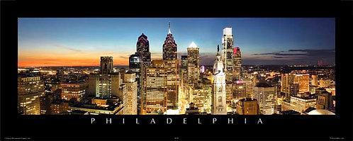 Philadelphia Skyline at Sunset - 167PS