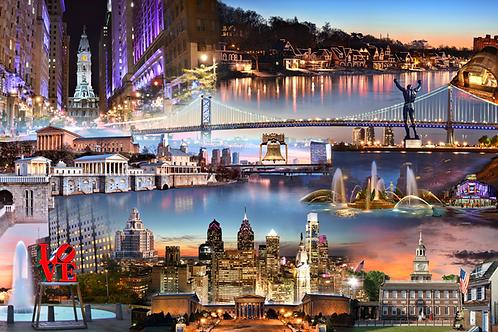 Philadelphia Collage - 208L