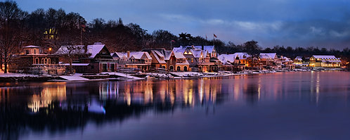 Boathouse Row in the Wintertime - 194PS